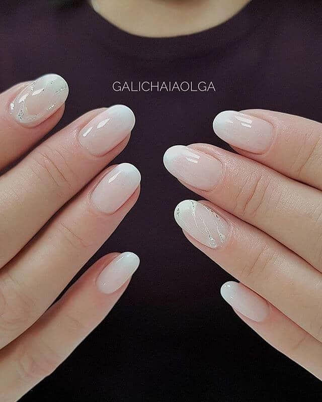 Translucent White Nails with Subtle Shine