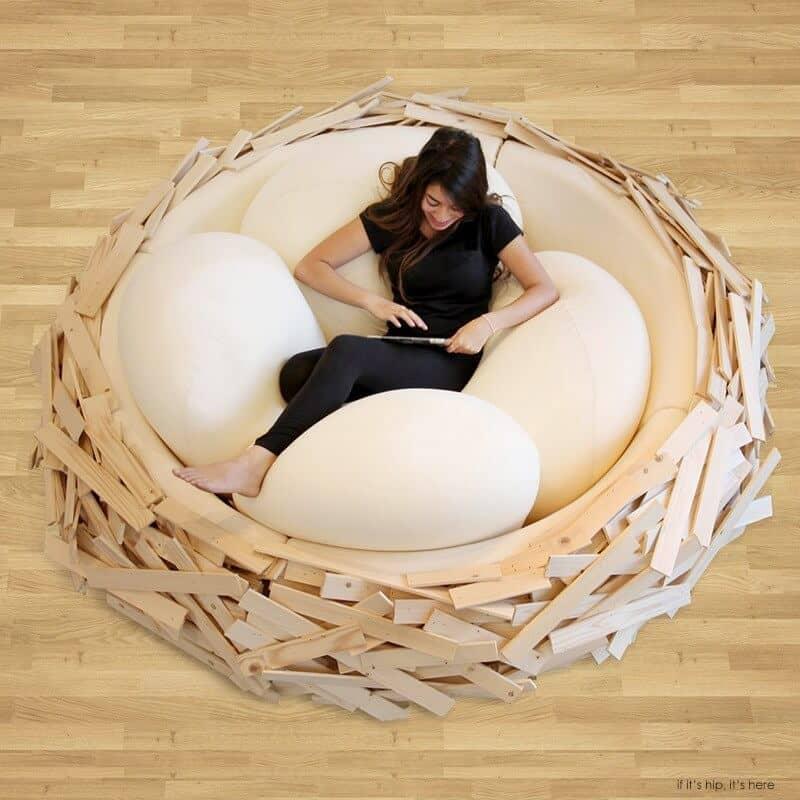Plush and Artsy Nest Design Lounger