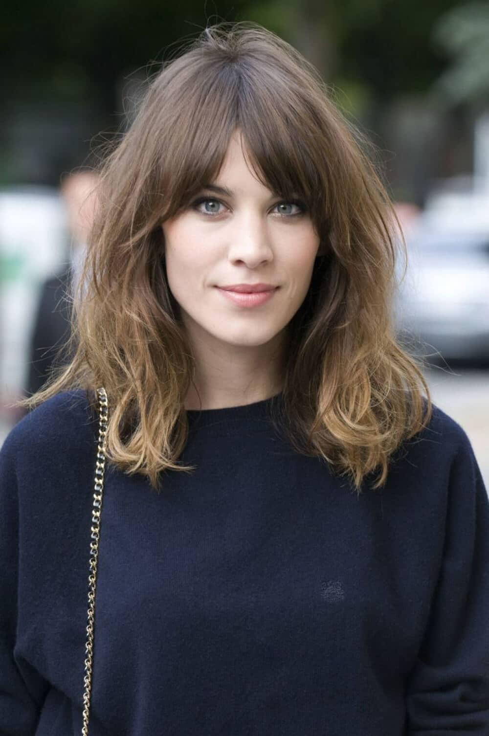 Cute Medium Hair with Bangs
