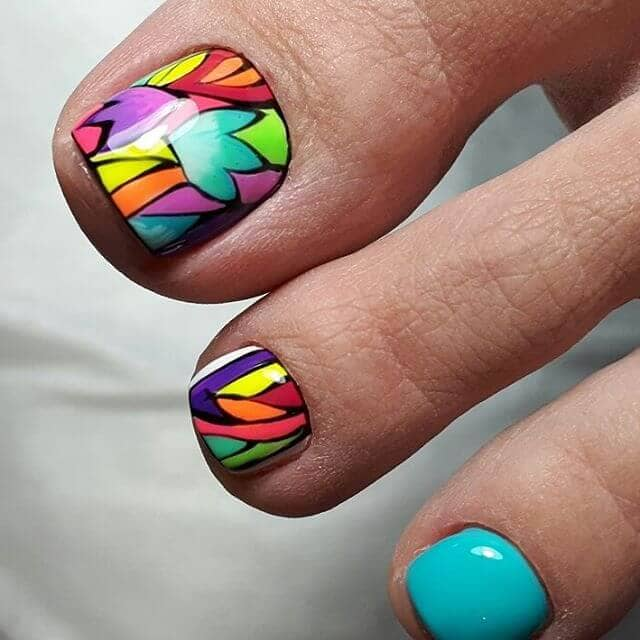 Intricate Stained Glass Nail Art Designs