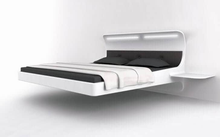 Sleek Modern Floating Bed Frame
