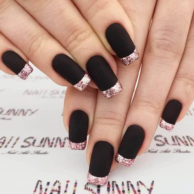French Manicure with a Serious Twist
