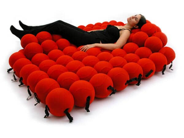 """Conceptual Art Red """"Bead"""" Bed"""