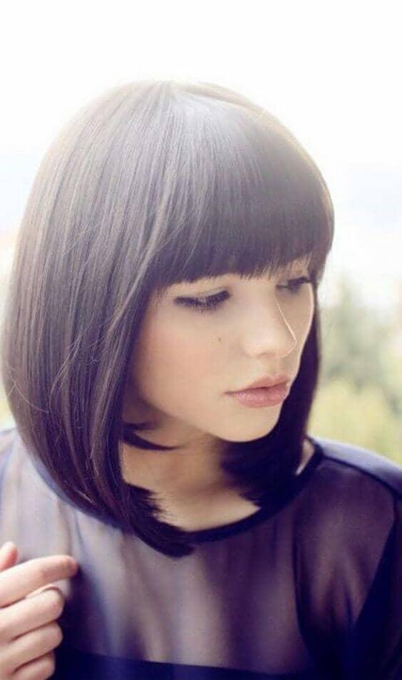 Cute Short Hair with Bangs