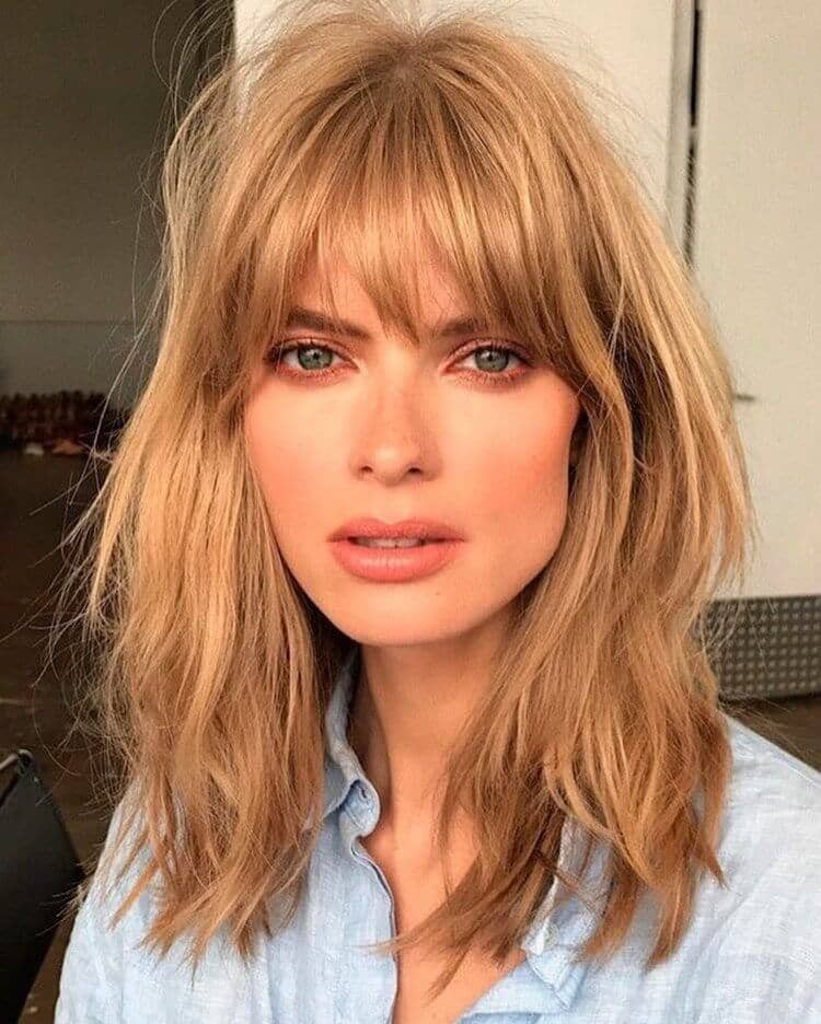 Hair Ideas with Tapered Bangs