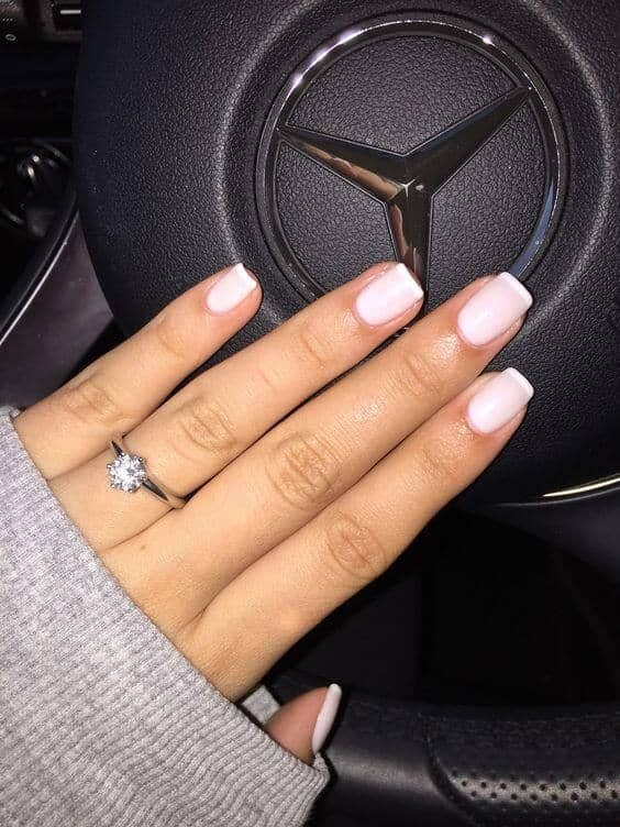 Gorgeous Pale Pink Mallow Nails