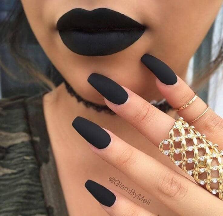 Long, Matte, Black - The ultimate long nail design