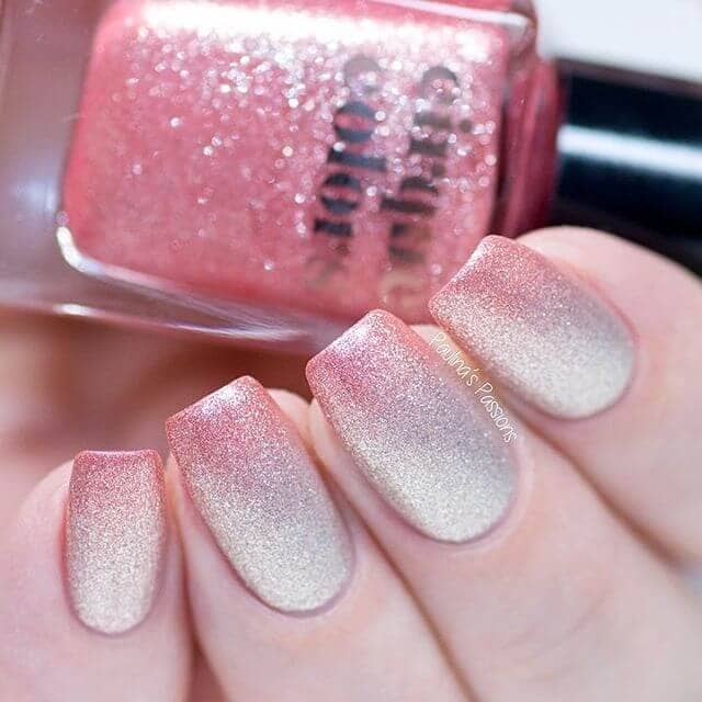 Subtly Sexy Beige to Pink Glitter Ombre