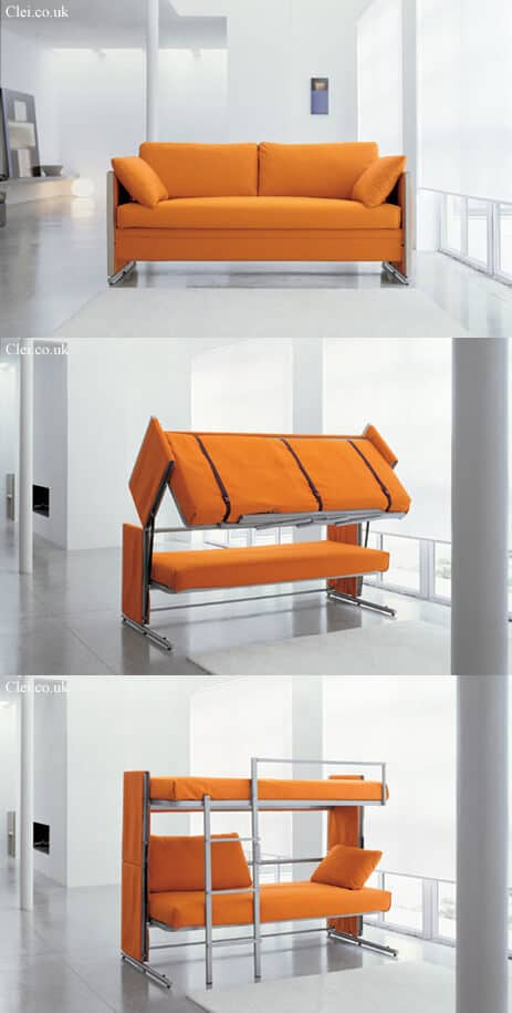 Convertible Couch and Bunk Beds
