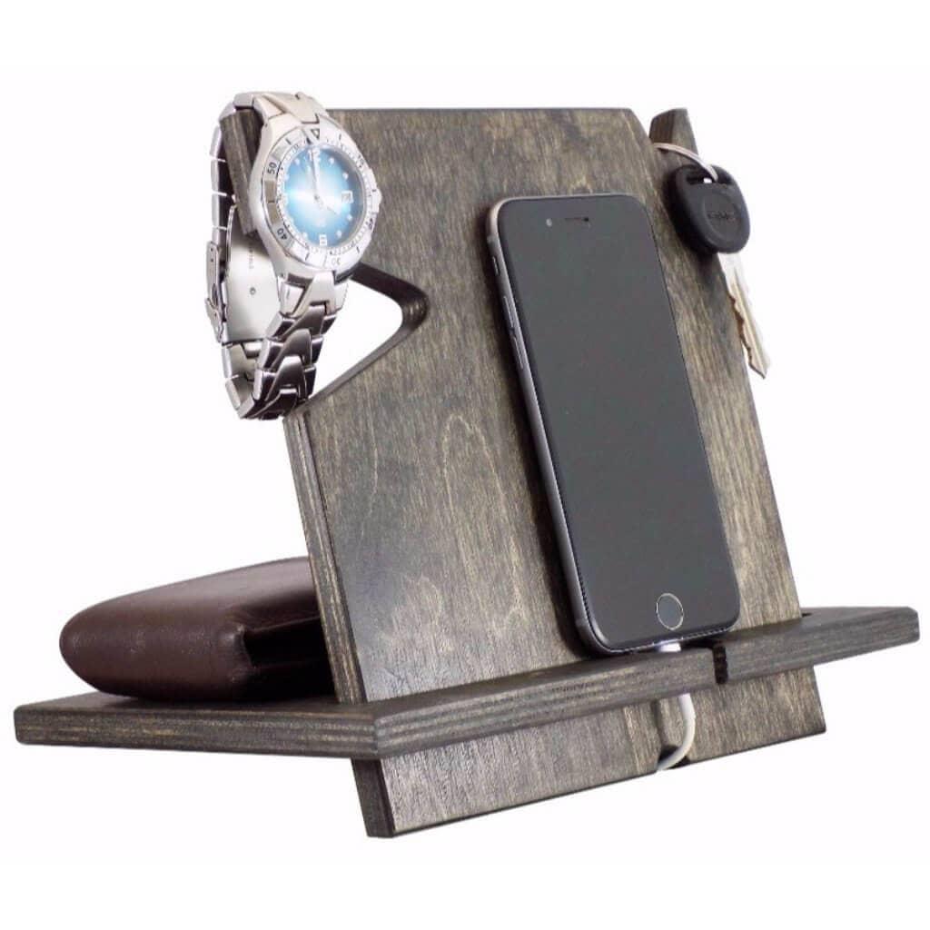 Rustic Wood iPhone Docking Station