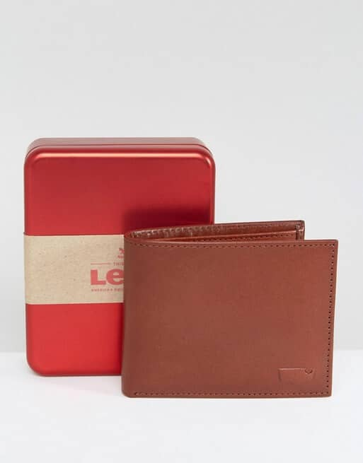 Levi's Leather Wallet In Brown
