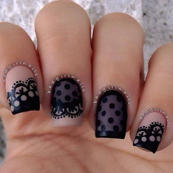 Betty Boop lace and dots sweet design