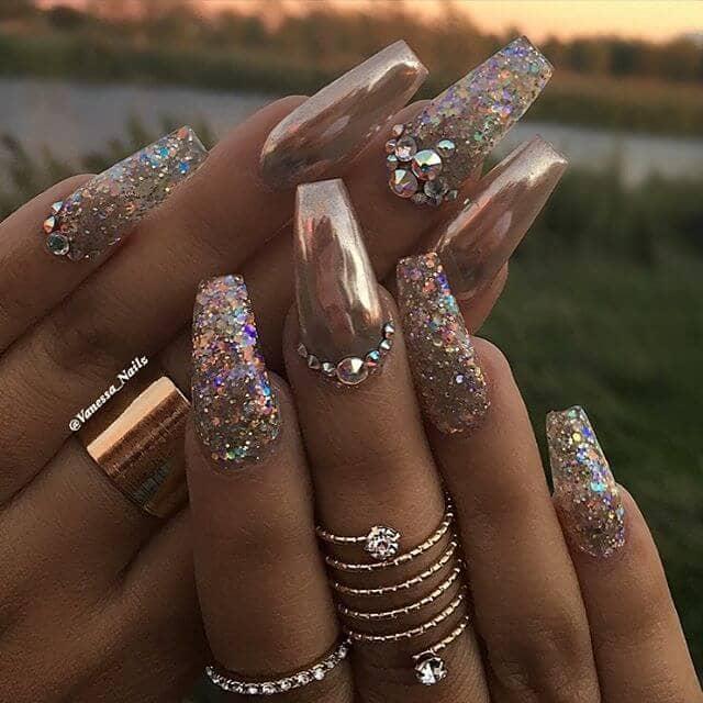 Creative Bronze Chrome With Warm Pearlescent Glitter