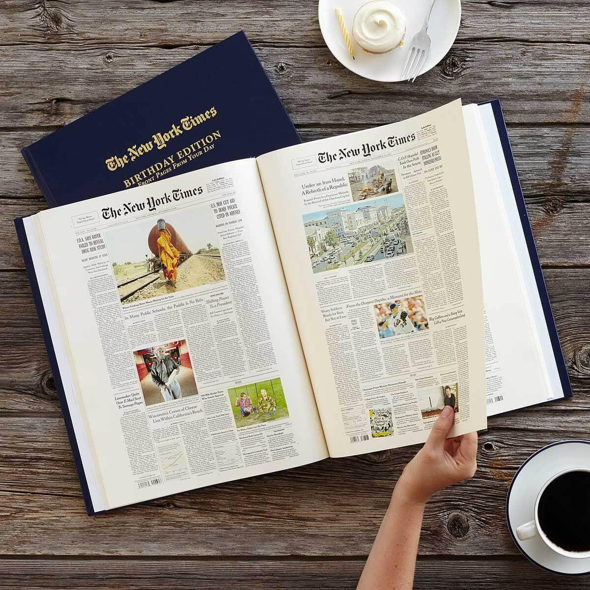 New York Times Custom Birthday Book