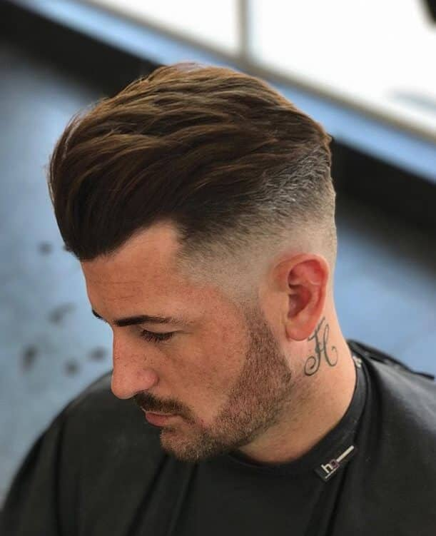 Combed Back and Simple Undercut Haircut