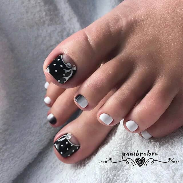 Festive Black and White Polka Dots
