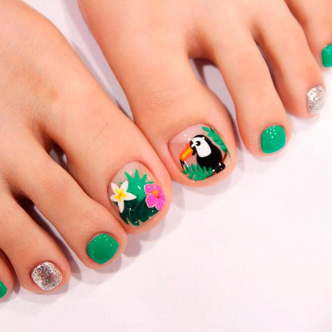 Tropical Toe Nail Ideas