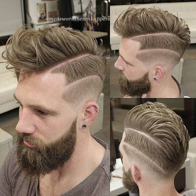 Spiked Undercut Hair with Bordered Skin Fade