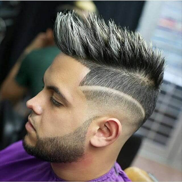 Men's Mohawk with Fringed Sides