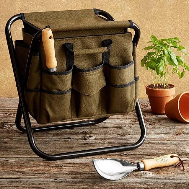 Lightweight Steel Gardener's Tool Seat