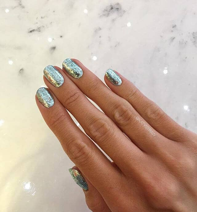 Glitter On Top of Chrome