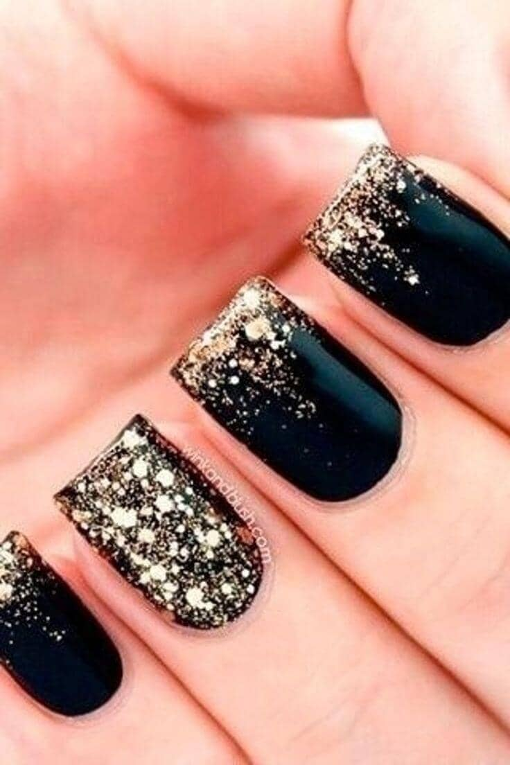 Simple Black With Gold Tips an Accent Now