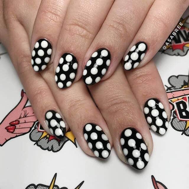 Roy Lichtenstein- classic white dot design