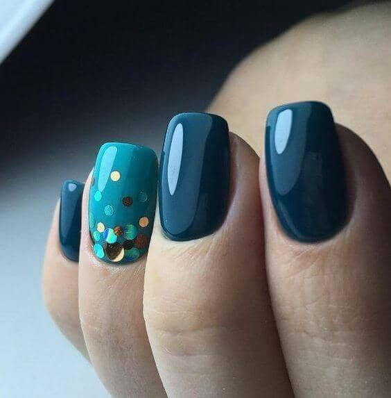 Fun-Loving Blue Design with Sequins