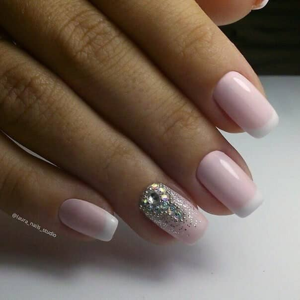 Pink French Manicure with Incredible Detail