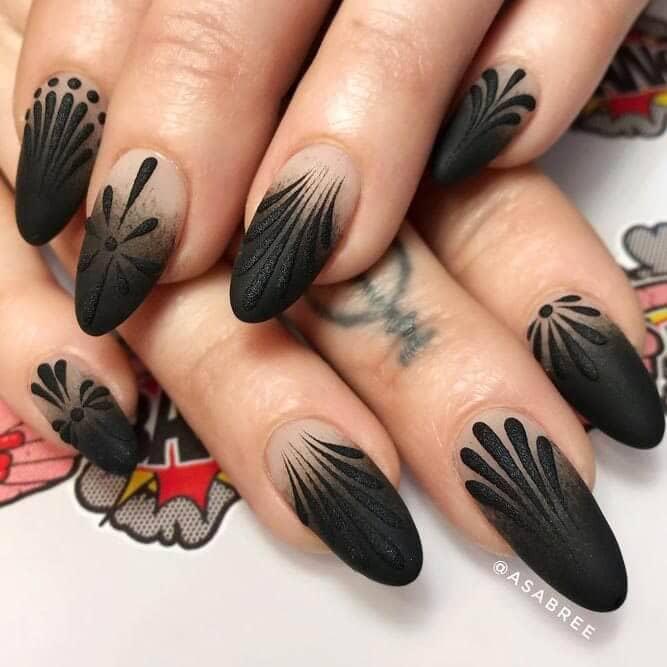 Fleur de Lis inspired textured black and natural pink art
