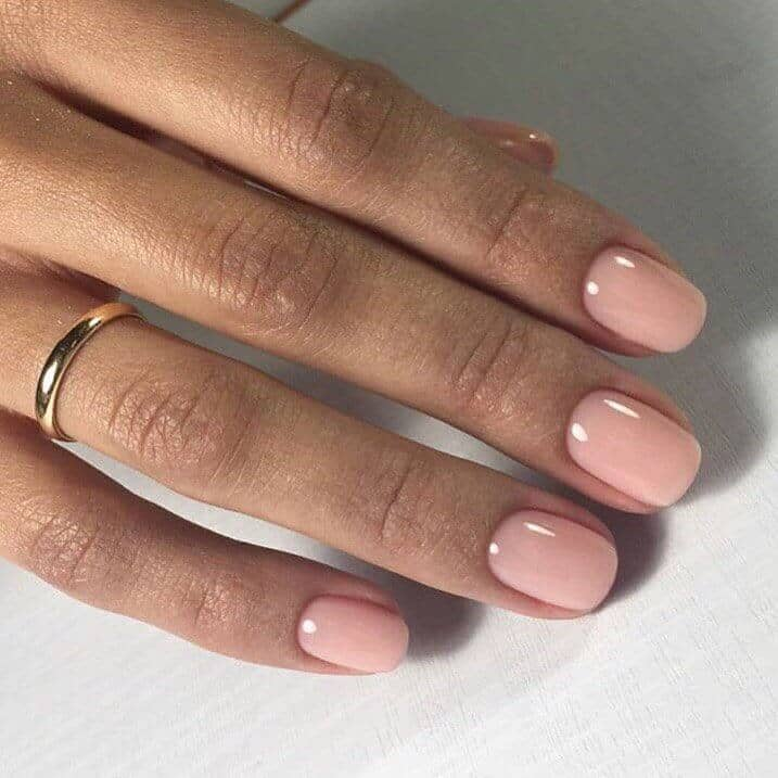 Pretty In Pink Classic Short Nail Design