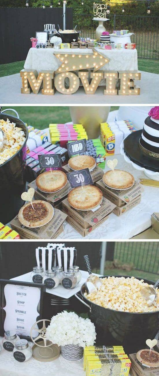 Sophisticated Movie Party for Teens or Adults