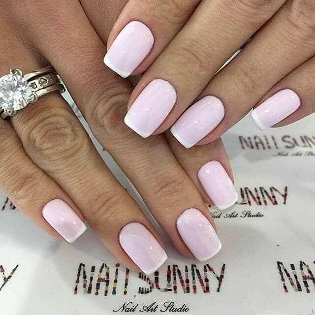 Gel French Manicure with Baby Pink Polish