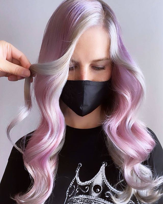 Lavender And White Ombre Hair