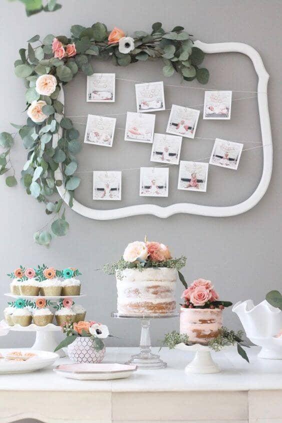 Boho Floral Cake Table Idea