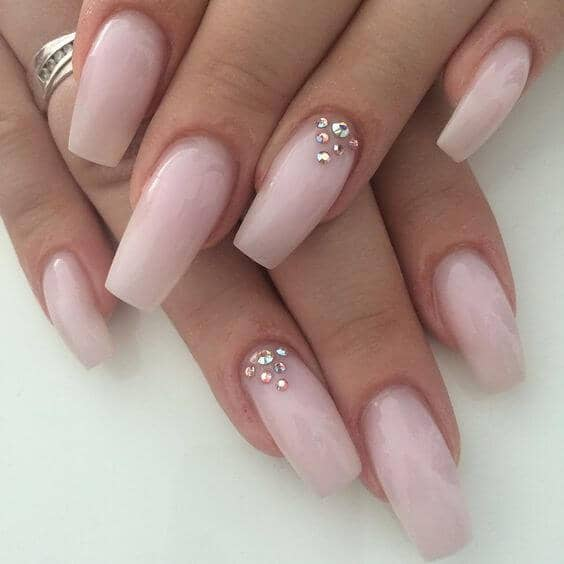 Diamonds Are A Girl's Best Friend Nail Design