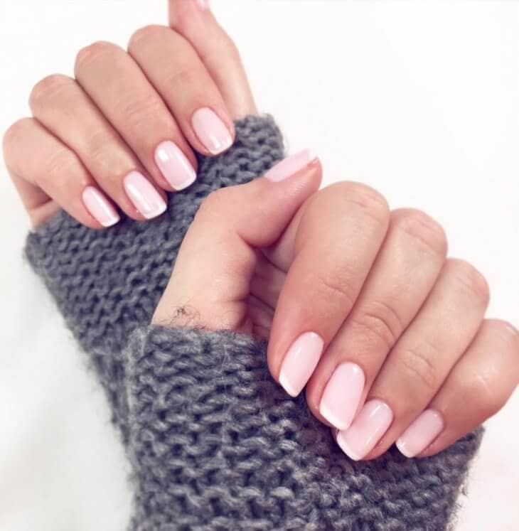 Subtle Nail Polish Idea with Pale Pink