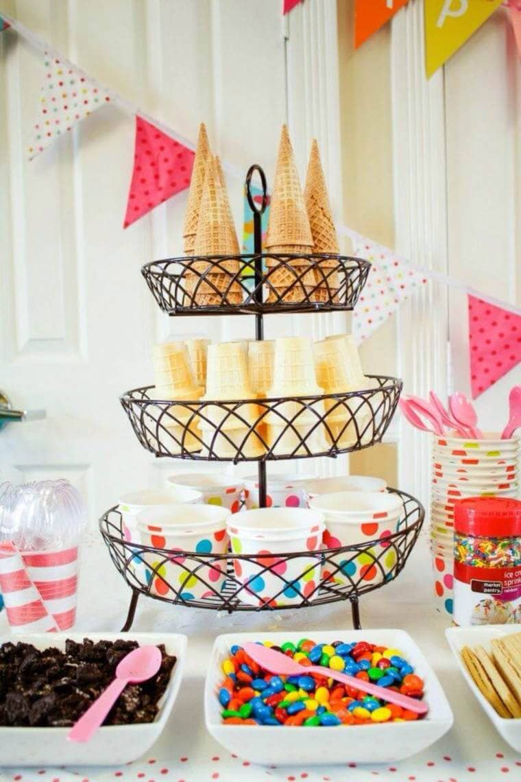 Colorful Ice Cream Party Buffet
