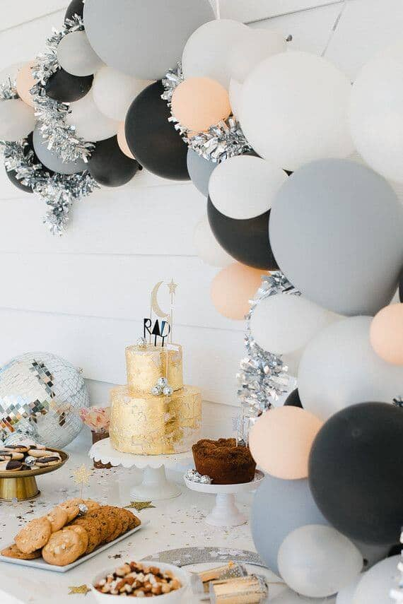 Sophisticated Silver and Gold Dessert Table