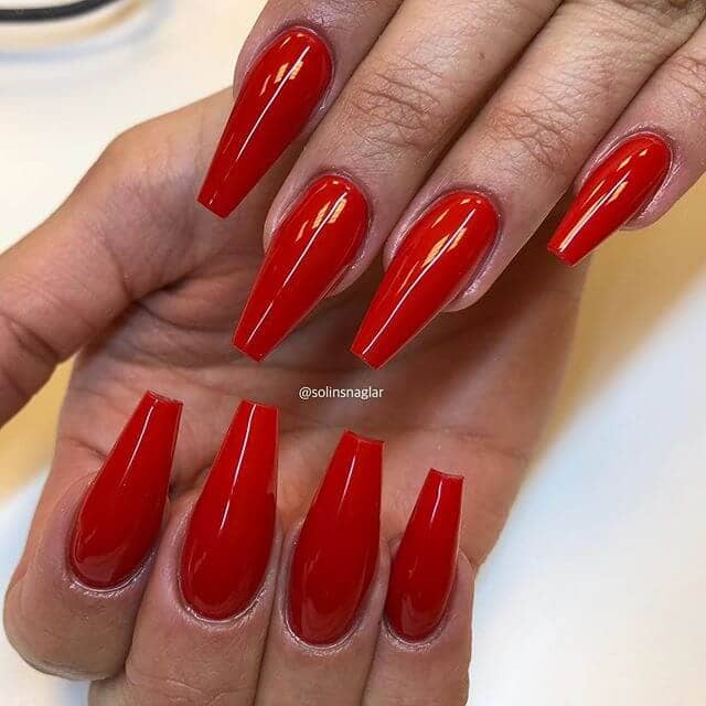 Unique Red Ballerina Nails - Go Big Or Go Home