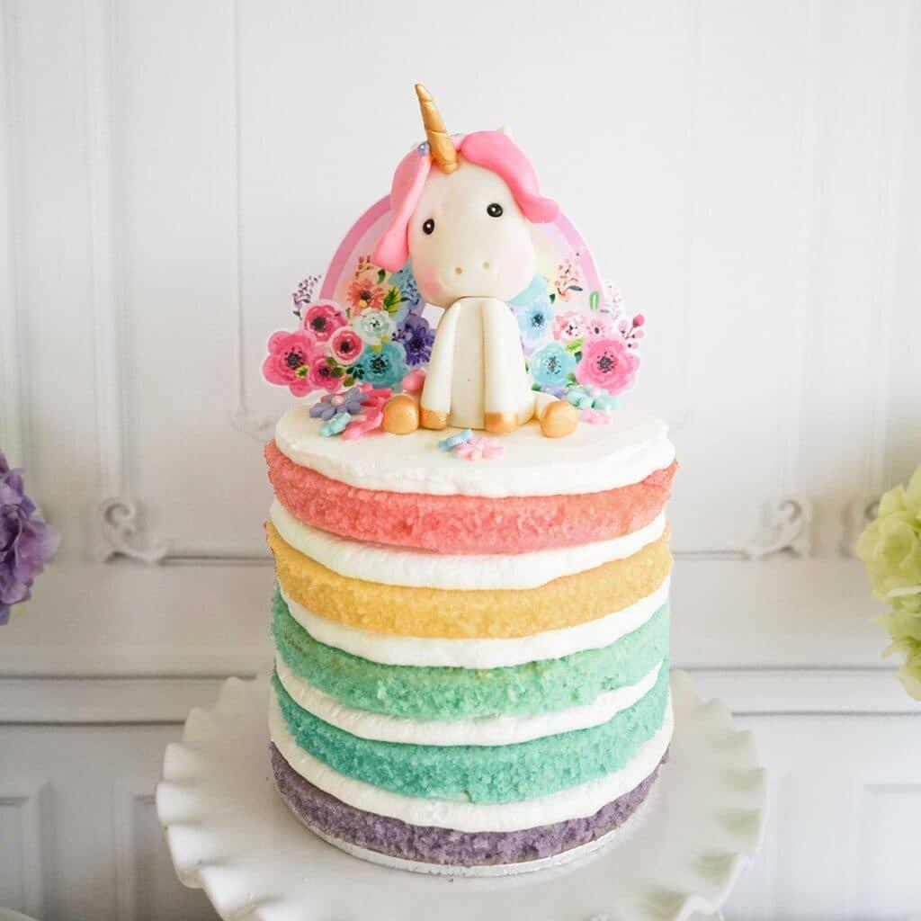 Rainbow Unicorn 5-Layer Birthday Cake