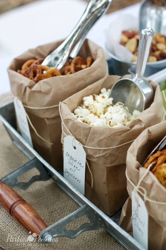 Simple and Healthy Party Snack Buffet