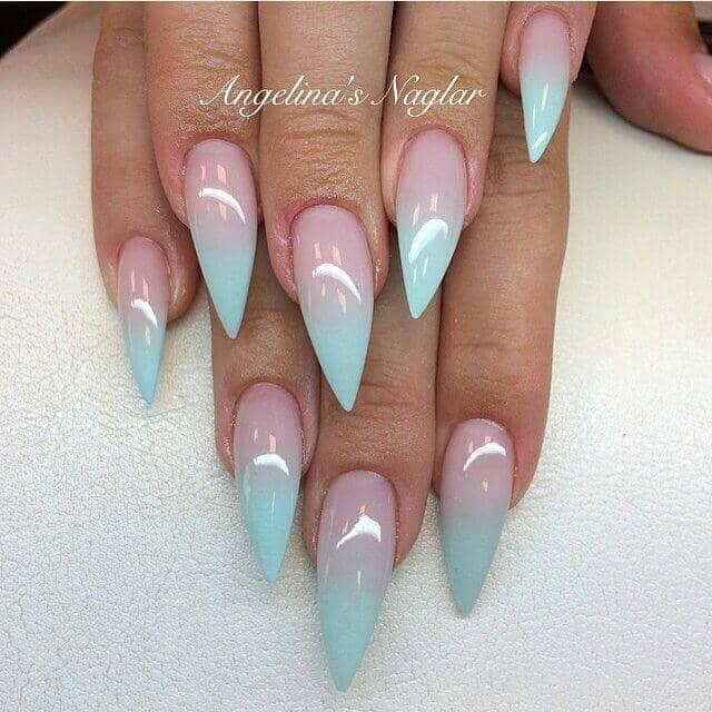 Sharp Cotton Candy Ombre Awesome Designer Nails