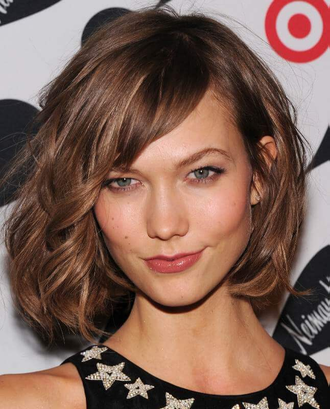 Effortlessly Cool Side Swept Bangs Hair Style