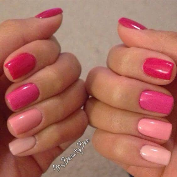 Pink Color Scheme - Fade From Dark Pink To Light Pink
