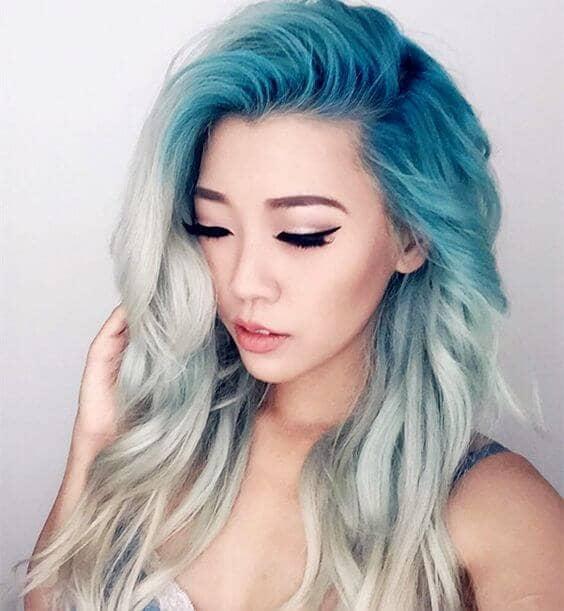 Blue and Platinum Mermaid Hair