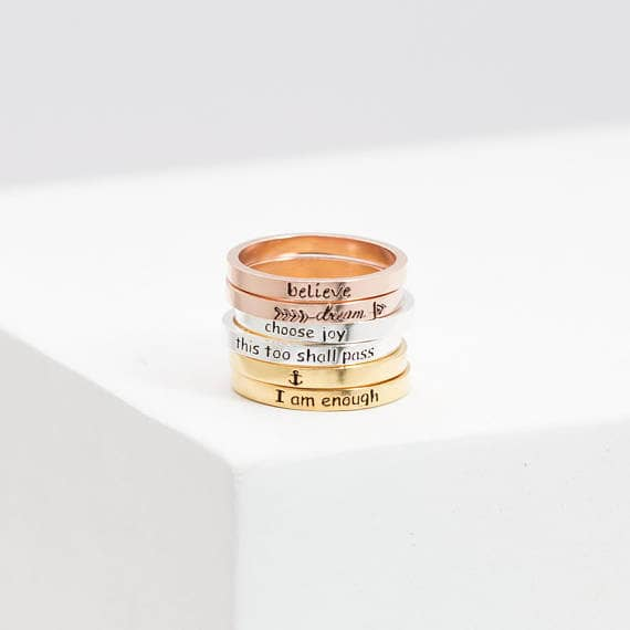 Elegant and Personalised Ring Set for Women