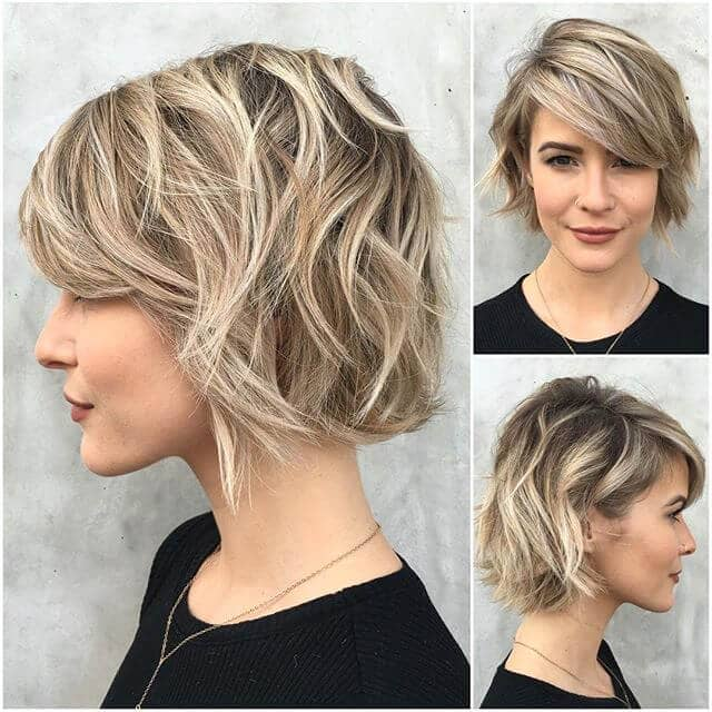 Chic Short Hair With Side Bangs