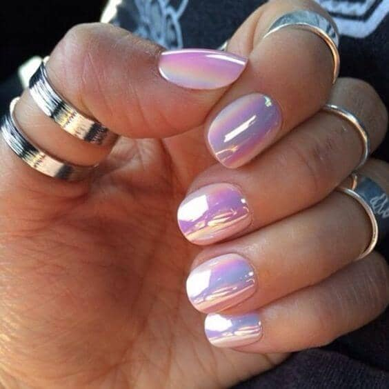Iridescent, Mother Of Pearl Inspired Nails