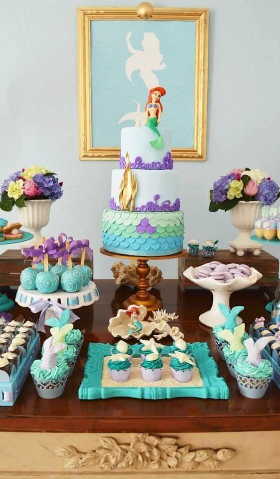 Little Mermaid Turquoise Birthday Party Idea
